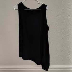 Eileen Fisher Tank Shirt Blouse swing hight low